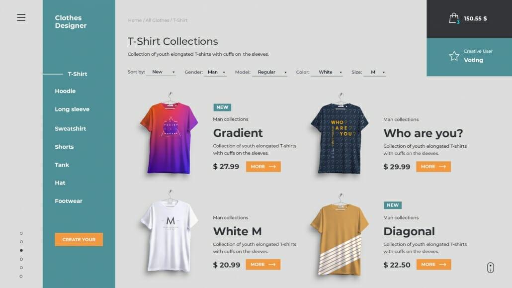 Design for nettbutikk